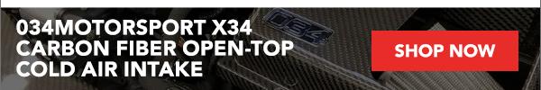 034Motorsport X34 Carbon Fiber Open-Top Cold Air Intake